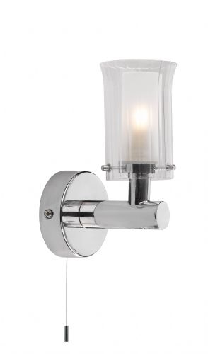 Elba 1-light Polished Chrome IP44 Wall Light ELB0750 (020176)